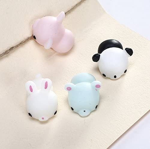 UChic 5PCS Kawaii Mini Emotion Animals Vent Ball Toys Relax Novelty Toys Stress Relieving Anti-stress Toys Soft Squeeze Bread Kids Toy Style Random