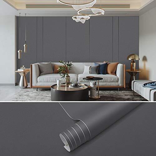 Papel Adhesivo Para Muebles Gris Papel Pintado Pared Moderno 61x500cm PVC Papel para Pared Papel Pintado Pared…