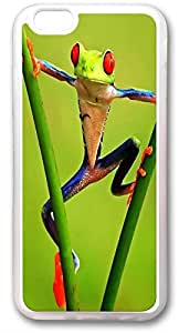 Custom Iphone 6 Case,The strange frog Custom TPU Transparent Iphone 6(4.7) Cases