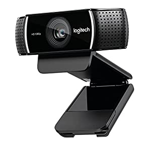Logitech C922x Pro Stream Webcam – 1080p HD Camera for Streaming and Recording at 60 FPS – Background Replacement Technology