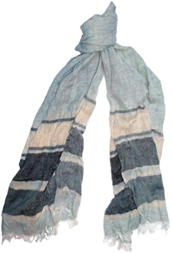 Austin Reed Light Grey Scarf With Wide Stripes Amazon Co Uk Clothing