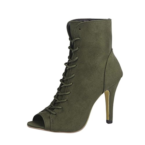 Women Platform Dress Sandal,Ankle High Heels Peep Toe Lace U