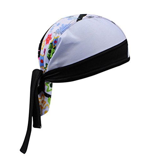Uriah Women's Cycling Cap Polyester Head Wrap Branch Leaves by Uriah (Image #2)