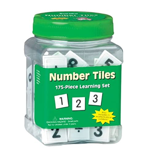 Eureka Tub Of Number Tiles 175 In 3 4 X 5 1 2