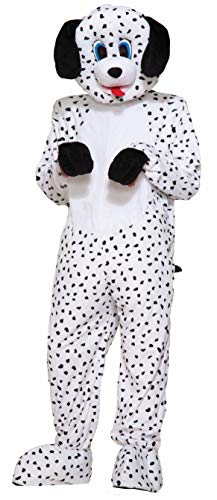 Dalmation Costumes Adults (Forum Novelties Men's Dotty The Dalmatian Plush Mascot Costume, Multi Colored, One)