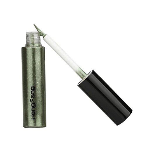 Kemilove Pigments Metallic Smoky Eyes Eyeshadow Glitter Liquid Eyeliner (Green 6#)