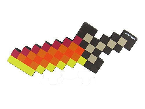 (EnderToys Foam Fire Dagger Toy Weapon, Pixelated Blade, 10)
