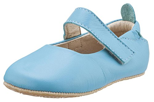 Old Soles Girl's Gabrielle Turquoise Blue Soft Leather Mary Jane Crib Walker Baby Shoes 22 M EU/6 M US Toddler