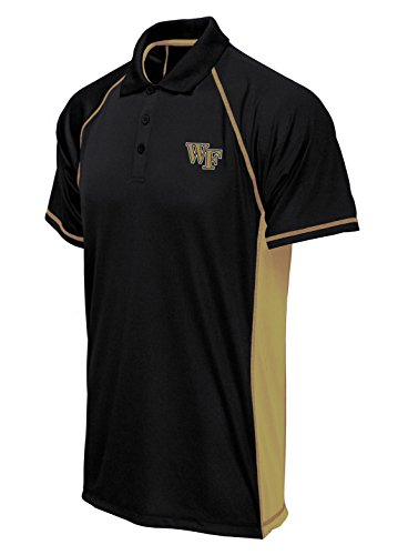 NCAA Wake Forest Demon Deacons Big Men's Panel Poly Polo, XX-Large/Tall, Black/Gold
