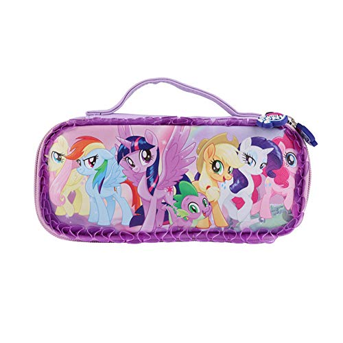 YOURNELO Girl's Pretty My Little Pony Pencil Bag Pen Case Multi-Functional Pouch Zipper Bag (Purple 1)