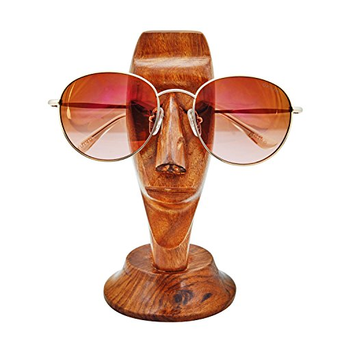 Fun Birthday Gift Ideas Handcrafted Meditating Man Rosewood Reading Glasses Stand Spectacle Stand or Eye Glass Holder Wooden Tabeltop Display Stand 6 Inches Anniversary Housewarming Gifts Men - Wooden Frames Spectacle