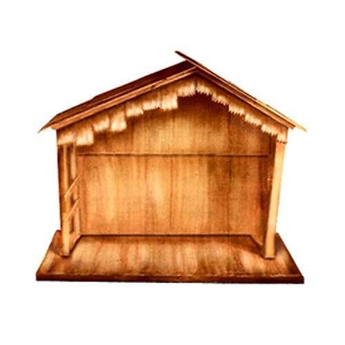 "Lb International 11156121 74"" Wooden Outdoor Religious Na..."