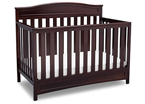 (Delta Children Emery 4-in-1 Convertible Baby Crib, Dark Chocolate)