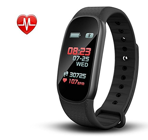 Career M Fitness Tracker Activity Watch Heart Rate Monitors Sleep Monitoring Bracelet Wristband Pedometer for Android iOS
