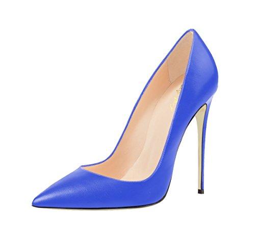 De Grande Pour Pointu La Talons Chaussures De Solides Automne Taille Minces Printemps Bout Sexyprey De Le Bleu Hauts Cour Femmes De 8Zqxw7O5