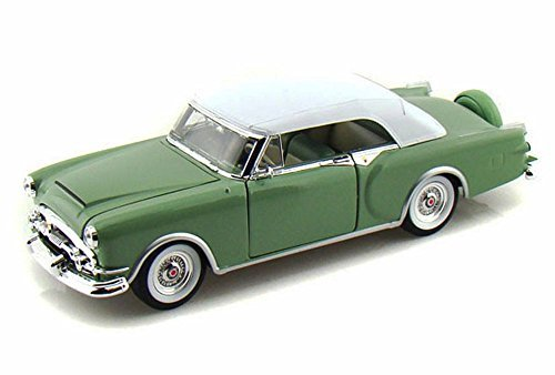 Welly Collection 1:24 1953 Packard Caribbean with White Soft Top Diecast Model Car - Green ()