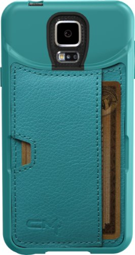Samsung Galaxy S5 Wallet Case - Q Card Case by CM4 - Pacific Green (Samsung S5 Otter Box Wallet Case)