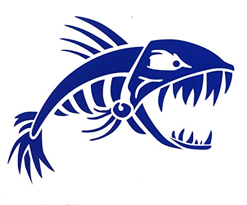 Custom Bonefish Vinyl Decal - Personalized Fishing Bumper Sticker, for Tumblers, Laptops, Car Windows, Feirce Bone Fish Design