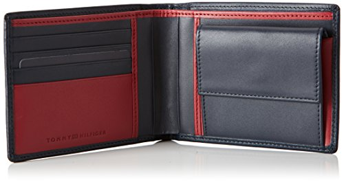 Tommy Hilfiger Walker Extra Cc Coin Pocket -  para hombre Midnight/Rio Red 903