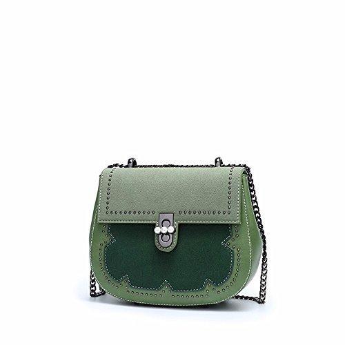de nouvelle 20 l'épaule Green mode chaîne Rose 8cm sac vintage de de 18 coursier sac sacoche nwUrTxU