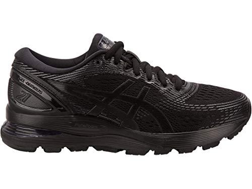 ASICS Women's Gel-Nimbus 21 Running Shoes, 9.5M, Black/Black (Asics Gel Energy)