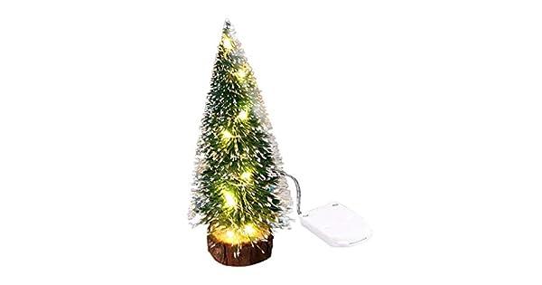 Amazon.com: Transser - Mini árbol de Navidad artificial con ...
