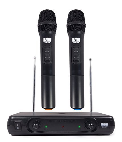 EMB Pro EBM10W Professional Dual VHF Wireless Handheld Microphone System
