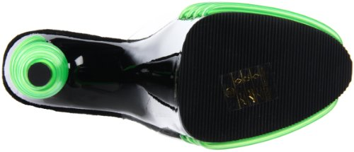 Pleaser - Sandalias mujer - Clear/Lime Green