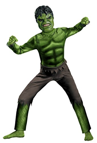 Boys Hulk Avengers Classic Kids Child Fancy Dress Party Halloween Costume, M (7-8) (Child Classic The Hulk Costume)
