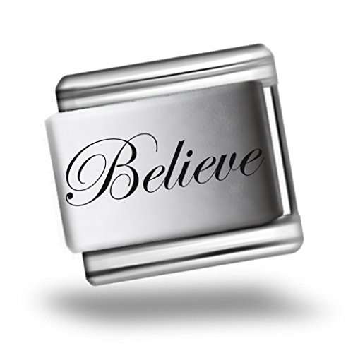 believe-laser-etched-italian-charm-bracelet-link