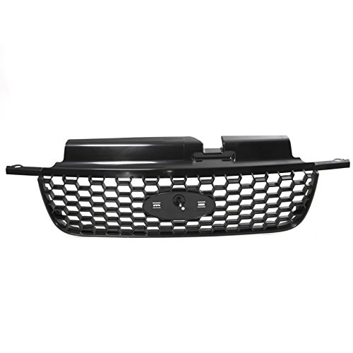 CarPartsDepot Primed Smooth Black Front Grille Replacement Grill 05 06 07 Ford Escape (Grills For Ford Escape compare prices)