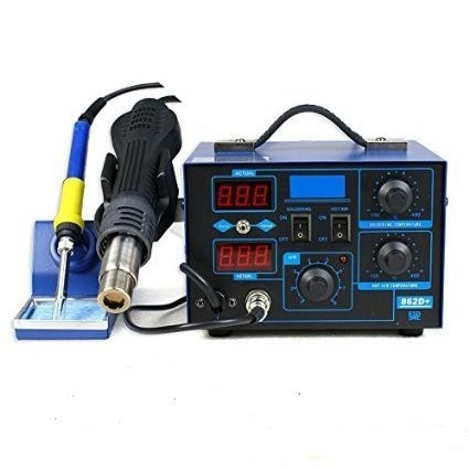 Smartxchoices Pro 2In1 862D+ SMD Soldering Iron Hot Air Rework Station LED Display w/4 Nozzles As Free Gifts (#1)
