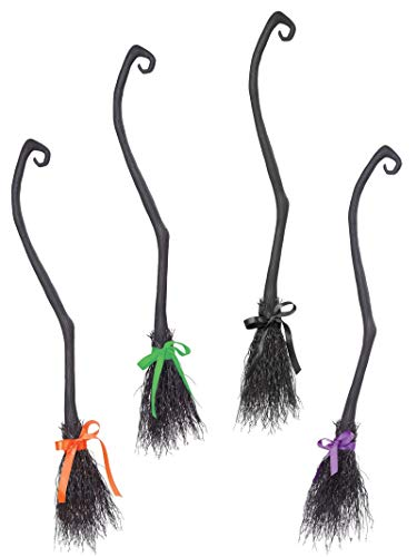 Halloween Costume Witch Broom (California Costumes Women's Witch's Broom, Black, One)