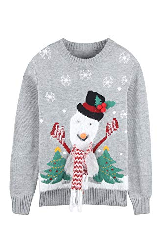 Pink Queen Unisex Ugly Christmas Xmas Pullover Sweater Jumper Snowman XL]()