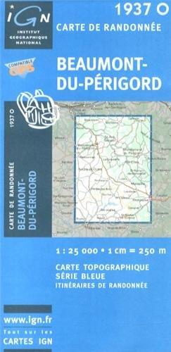 1937o Beaumont-du-Périgord Carte – Carte pliée, 7 octobre 2010 IGN 2758521652 Karten / Stadtpläne / Europa Frankreich