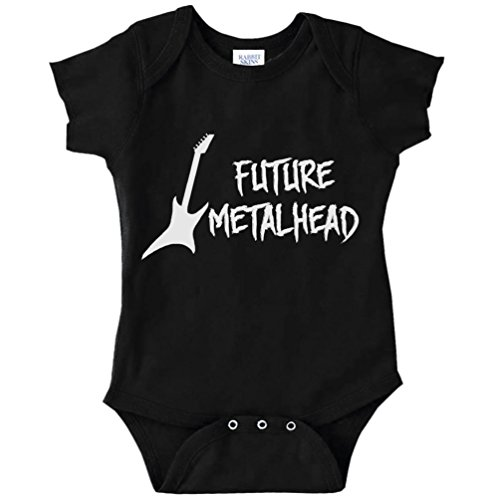 Future Metalhead Funny Baby Bodysuit Infant (BLACK, 6 MONTHS)
