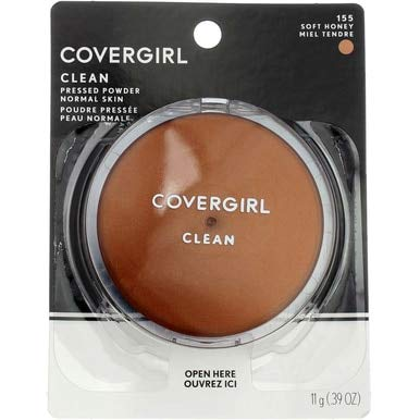CoverGirl Clean Pressed Powder Compact, Soft Honey [155], 0.39 oz