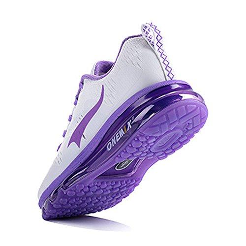 Onemix Lucht Sneakers Mannen Vrouwen Loopschoenen Sportschoenen New Wave Met Noppenfolie Road Loopschoenen Paars