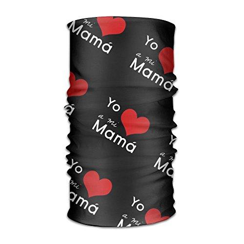 Love Mama Print Seamless Face Mask Bandanas,Ski Mask,Balaclava Motorcycle Face Mask For Outdoors by YIYIDG (Image #2)