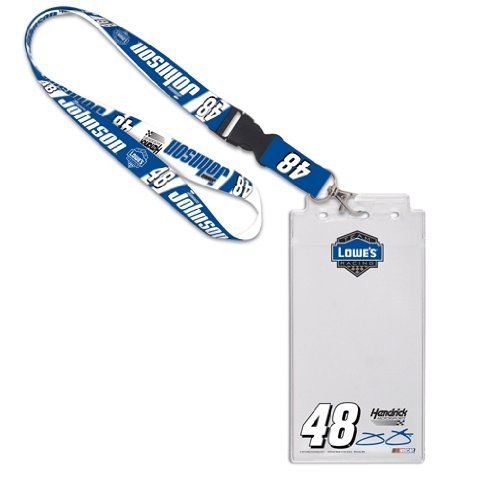Wincraft NASCAR Jimmie Johnson 15783015 Credential Holder with - Lanyard Johnson Jimmie