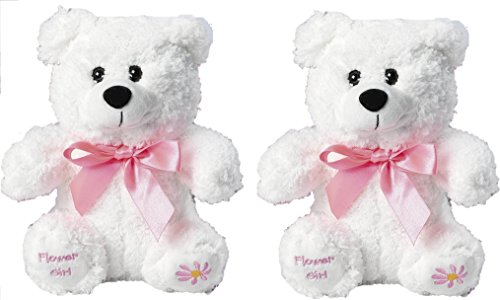 - Fun Express Inc. Plush Flower Girl Bear(2pk)