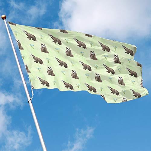 Garden Flag Animals Pattern Outdoor Yard Flag Wall Lawn Banner Home Flag Decoration 3' X 5' ()