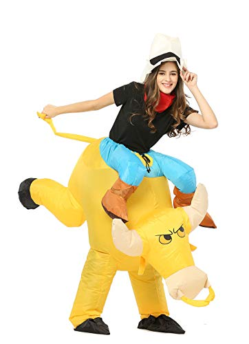 GOPRIME Riding Inflatable Costumes (Bull Gold)