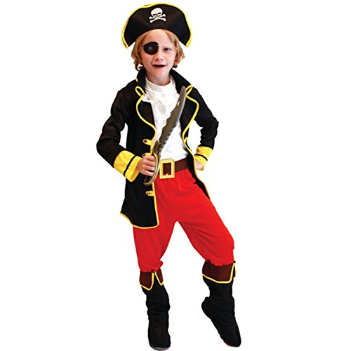 Cyclops Costumes Ideas (Kid's Halloween Costume Party Dress Up Cosplay One-eyed Captain Pirate Full Suits Outfit)