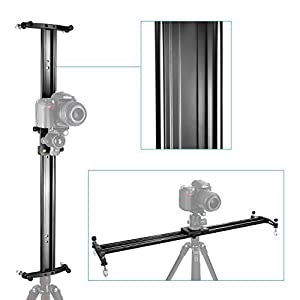 Neewer 24 inches/60 centimeters Aluminum Alloy Camera Track Slider Video Stabilizer Rail for DSLR Camera DV Video Camcorder Film Photography, Load up to 11 pounds/5 kilograms