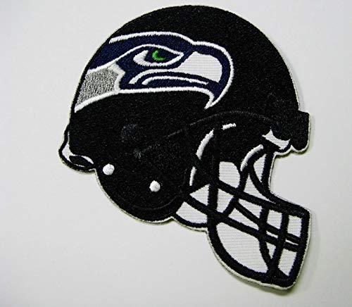Seattle Seahawks Embroidered Football - NFL Seattle Seahawks Embroidered Helmet Logo Patch 3 1/2