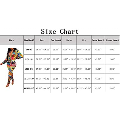 2 Piece Outfits for Women Pants Tracksuit Sets Floral Print Long Sleeve Jumpsuits: Clothing