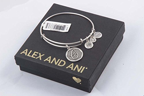 """Alex and Ani Rafaelian Silver-Tone Initial C Expandable Wire Bangle Bracelet, 2.5"""" from Alex and Ani"""