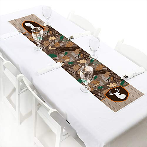 Big Dot of Happiness Gone Hunting - Petite Deer Hunting Camo Baby Shower or Birthday Party Paper Table Runner - 12