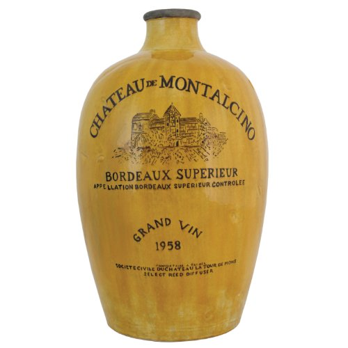 Cheap  Import Collection Montalcino Bottle, Golden Yellow